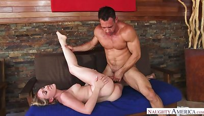 Blonde Lily LaBeau fucking in the siamoise round her hairy bush