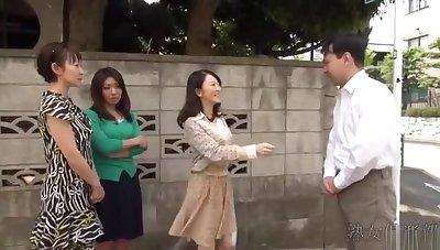 japanese milf handjob uncensored