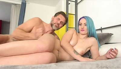 Tattooed Teen Monica's Big-Cock Fuck