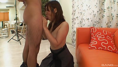 Japanese sucks dick and masturbates en masse amateur XXX