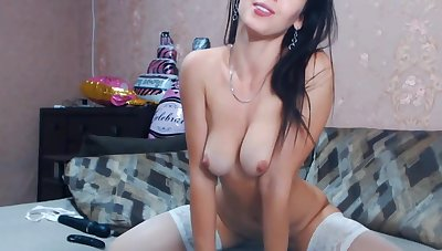 Hot Stunner Sloppy with an increment of Wild live show - Big tits