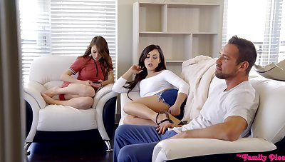 Lucky man fucks juicy pussies of Alex Blake and Whitney Wright