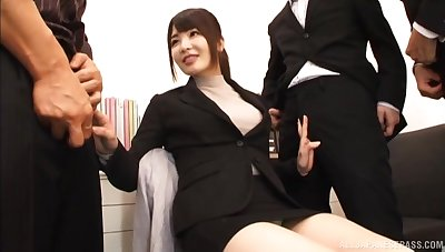 Anomalous video of Japanese carve Shiina Ririko having making love with 2 guys