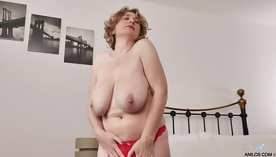 Mature with big saggy special in special home XXX