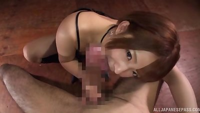 Mari Rika gives head in amazing manners and swallows
