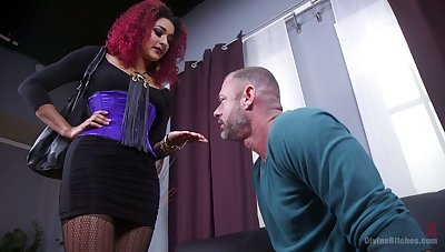 Cruel mistress Daisy Ducatiputs on strapon with the addition of fucks filial toff