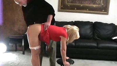 Katie spanked unconcealed bottom