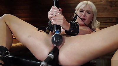 Tied solo blonde machine banged