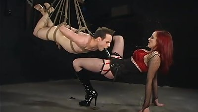 Extreme femdom BDSM with guestimated anal and deepthroat
