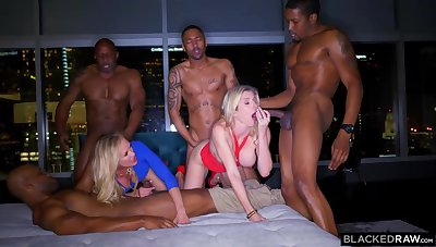 Ash-Blonde feminine is permanently orgying with many dark-hued boys, until she finishes up downright weary
