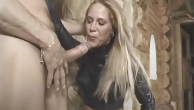 hooded babe concerning latex with the addition of thigh high boots gets her ass ploughed