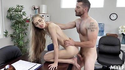 Best bib amazing hard fucking at the office for the skinny secretary