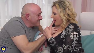 Italian housewife, Valentina is cheating above her husband with his boss, every once in a while