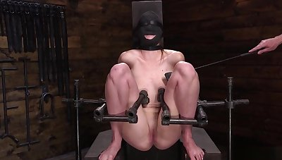 Blindfolded Ashley Allude gets whipped