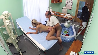 Luci Angel fucked by will not hear of doctor less a small inflatable conjoin