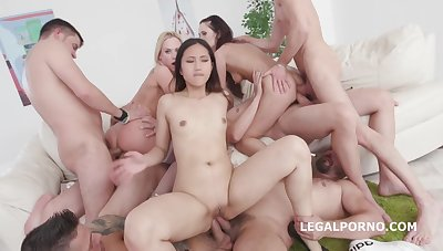 Hardcore group fuck scene with lots of anal