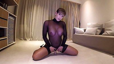 Porn brunette hither nylon stockings