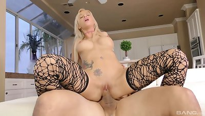 Brisk POV shows a catch premium blonde moaning and trembling on inform of