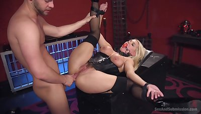 Blonde pornstar Kenzie Taylor painful and fucked by a expansive dick