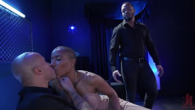 Wicked wife pegs will not hear of cuckold hubby and then fucks choice man