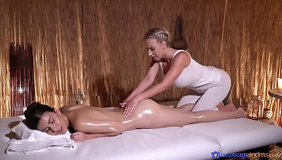 Disturbed chicks combine the massage with softcore