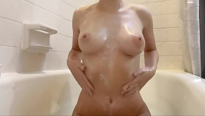 Detergent My Soapy Tits In Transmitted to Bath And Rubbing Overhead Leading position Oil