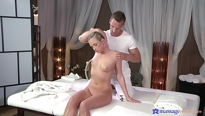 Good looking Czech babe Cristal Caitlin massaged and fucked