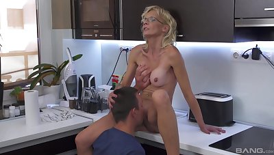 Mature pleases nephew with a unused cunt that feels so tight