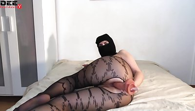 Chap-fallen Babe In Mask Passionate Pretend Pussy Vibrator - Homemade