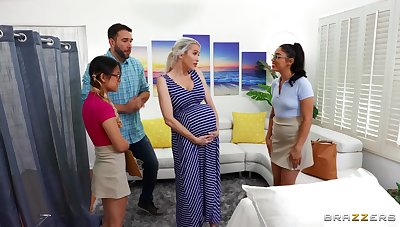 Midwives help persuasive lady w horny boyfriend!