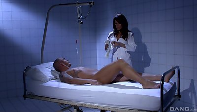 Sexy nurse Celia Jones adores sex and a blowjob with her patient